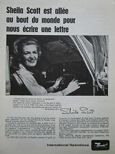 1/1967 PUB BENDIX TROPHY LINE CNS-220 COM/NAV SHEILA SCOTT ORIGINAL FRENCH AD