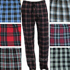 Mens flannel pajamas pants Poly/Rayon Loungewear Plaid Pant PJ Sleepwear M - 2X
