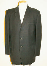 Vintage 50's Men's Black Gray Pin Stripe Rockabilly Sport Coat Jacket Size 40/42