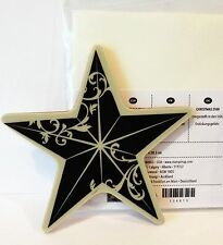 Stampin Up CHRISTMAS STAR stamp single clear mount NEW Mounted