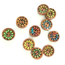 50Pcs Wood Wooden buttons 15mm funny round button srapbooking craft