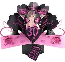 3D Pop Up Card Happy 30th Birthday Girl Art Deco Fun 30 Greeting Cards For Her
