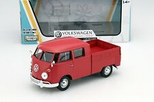 Motor Max  Volkswagen Type 2 T1 Double Cab Pickup Truck Red 1/24 Model 79343RD