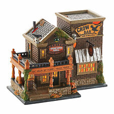 Dept 56 Halloween Snow Village Harley Davidson Crow Bar 4049322 NEW NIB 2015 LED