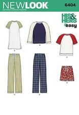 NEW LOOK SEWING PATTERN MISSES' & MEN LOUNGEWEAR PANTS TOP SHORTS ALL SIZES 6404