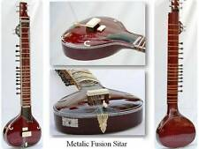 SITAR METALIC FUSION  ELECTRIC CORAL WITH FIBERGLASS CASE GSM0#G