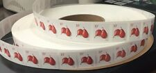 US 10 CENT RED PEAR COIL 2016 Strip of 100 W/ Guaranteed 3-4 Plate Numbers