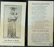 OLD BLESSED SAINT ANTHONY OF PADUA HOLY CARD ANDACHTSBILD SANTINI  SEE SHOP C931