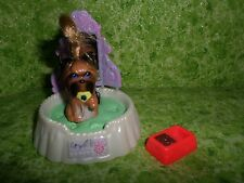 Vintage Kenner Littlest Pet Shop Yorkie Puppy Dog with Bed & Bowl