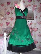 Monsoon gorgeous size 20 Letitia green sequin beaded silk dress