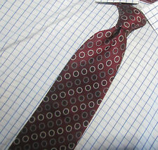 "Superb Bolgheri Burgundy with Gray Polka dots Silk Tie 3.75"" x60"" Made in Italy"