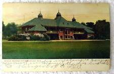 1907 POSTCARD BYCLE HEADQUARTERS BELLE ISLE MICHIGAN #s90
