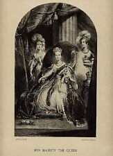 Original Period Lithograph of Queen Victoria as Owned by Victoria