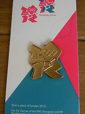 LONDON 2012 PIN BADGE GOLD OFFICIAL LOGO OLYMPIC GAMES RIO 2016