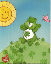 Care Bear licensed sticker green bear love luck st patricks day friendship