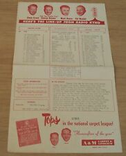 "1955 BASEBALL Line-up~""FRESNO CARDINALS vs SALINAS SPURS""~KYNO Radio~"