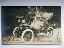 Old car innamorati lovers old postcard AK vecchia cartolina 2