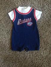 DETROIT PISTONS  NBA  BASKETBALL ONESIE/JERSEY  BY  NBA  12  MONTHS