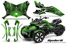 CAN-AM BRP SPYDER F3 GRAPHICS KIT CREATORX DECALS SPIDERX GREEN