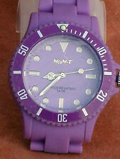 BNIB NEO-T PURPLE DIAL & PURPLE RUBBER DEPLOYMENT BRACELET UNISEX TOY WATCH 50m