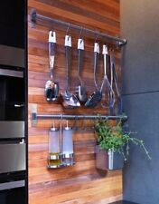 Hanging pot rack-pan kitchen wall mounted bespoke saucepan 3 Sizes Available