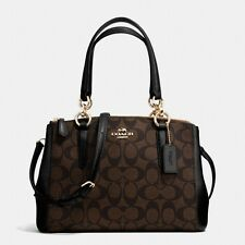 *NWT* Coach Signature Mini Christie Carryall Satchel Handbag F58290 Brown/Black