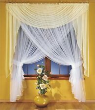 Amazing Set - Organza Net Curtain with Cream Voile Scarf Valance 250cm x 250cm
