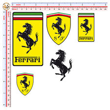 sticker adesivi ferrari kit 5 pz. auto moto helmet casco tuning decal