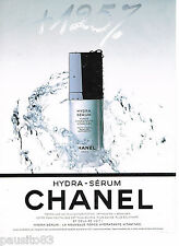 PUBLICITE ADVERTISING 065  1995  CHANEL    cosmétiques HYDRA-SERUM