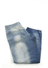 NWT GILMAR DIVISIONE INDUSTRIA ICE JEANS ICEBERG Blue Cotton Graphic Jeans Sz 38