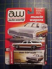 1/64 AUTO WORLD MUSCLE WAGONS 1969 CHEVROLET KINGSWOOD ESTATE!  WHITE  NIP  L@@K