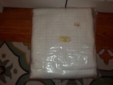 NIP Chelsea Frank Eliza Quilted Squares Bleached White King Duvet Cover & Shams