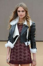 $5500 NEW BURBERRY PRORSUM LEATHER SHEEPSKIN BIKER JACKET COAT IT36 IT42 IT44