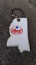 VINTAGE PEARL xXx BEER KEYCHAIN STATE OF MISSISSIPPI RARE