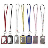 New Rhinestone Bling Crystal Cell Phone ID Badge Holder Lanyard Necklace