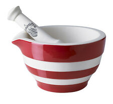 Cornish Red Mortar & Pestle by T.G.Green Cornishware