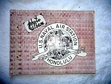 VINTAGE  BOOK US NAVY NAVAL AIR STATION HONOLULU HAWAII BASEBALL BOXING c.1945