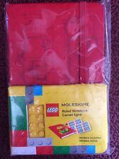 "MOLESKINE LEGO RULED NOTEBOOK - RED, 3.5x5.5"""