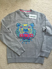 Authentic Kenzo Mens Tiger Embroidered Gray Sweatshirt 2016 (US SELLER) L