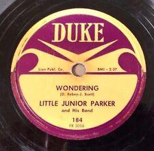 LITTLE JUNIOR PARKER on DUKE 184 - Wondering - R&B Blues 78 Strong V