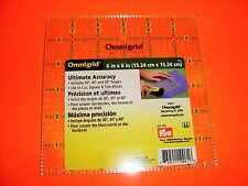 Omnigrid Yellow 6 inch x 6 inch Square Ruler for Quilting