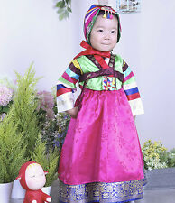 HANBOK Dolbok Korean traditional Korea Dress Baby Girl multicolored stripes 3039