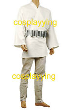 Star Wars Jedi Knight Luke Skywalker Tunic Cosplay Costume Suit Uniform