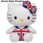 "TY BEANIE * HELLO KITTY UNION JACK * UK EXCLUSIVE 6""- NEW"