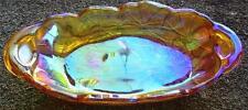 BEAUTIFUL MARIGOLD DAISY PATTERN CARNIVAL GLASS DISH