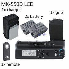Meike LCD Battery Grip For Canon 550D 600D 650D 700D BG-E8 +2x LP-E8