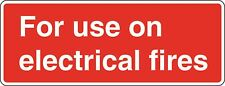 Health and Safety Fire Sticker For use on Electrical Fires sticker red