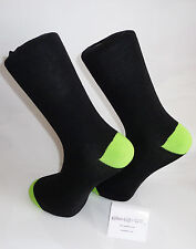 Black Socks with fluorescent green heal and toes.