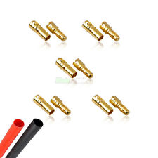 5 PAIRS Of RC 3.5mm Gold Bullet Connector & Heat Shrink Brushless Motor ESC Quad