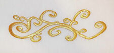 GOLD metallic embroidery patch lace applique motif dance costume bridal trim